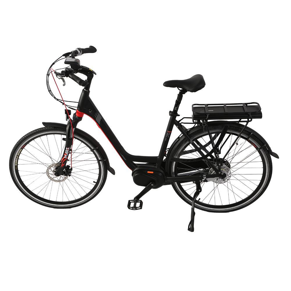 High Quality Bicycle 250W Middle Torque Motor / New Fashionable Design With Aluminium Alloy Frame City Electric Bike