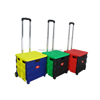Wheeled Shopping Folding Grocery Cart Pack
