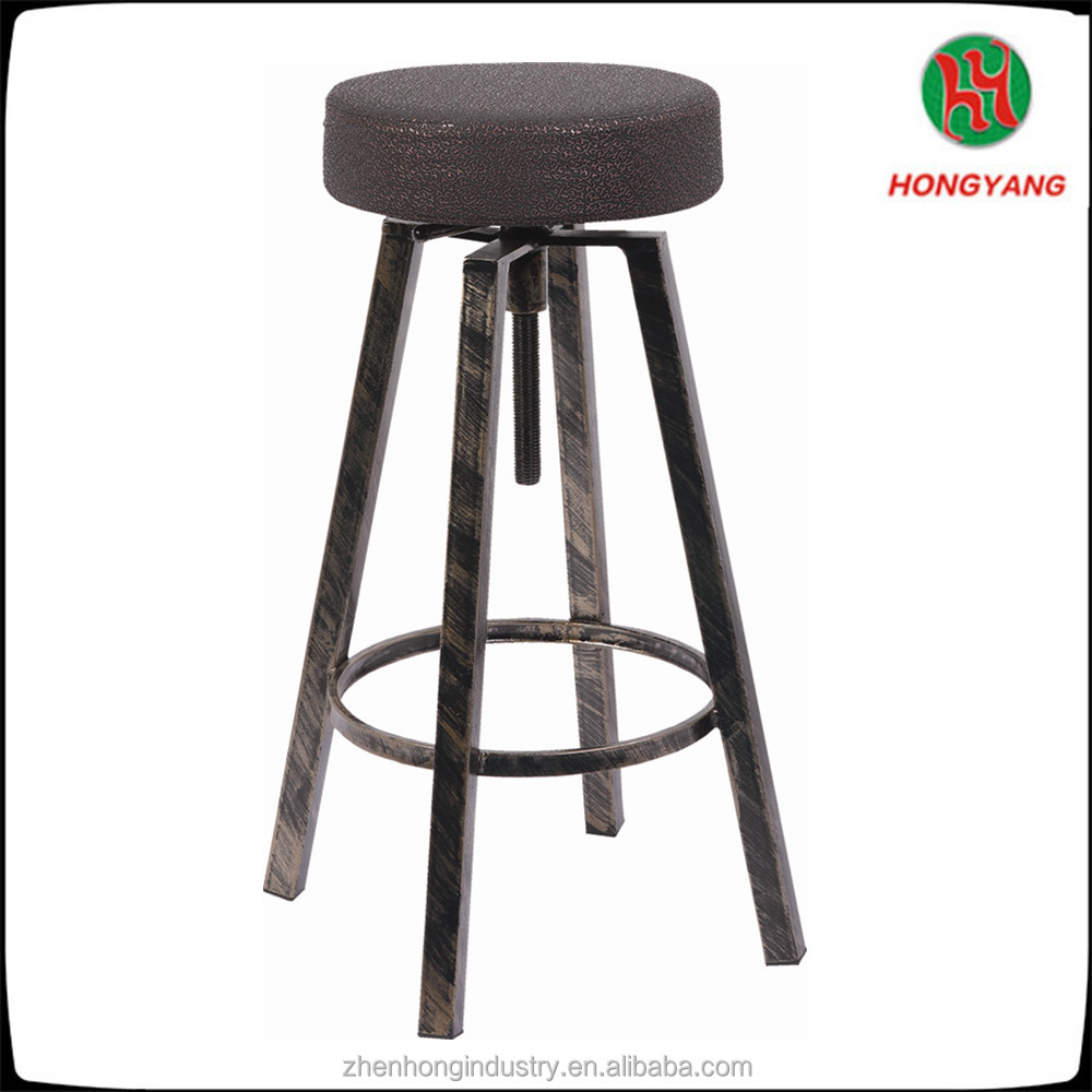 Retro Vintage Rustic Designer Kitchen Pub Bar Railway Stool Industrial Style