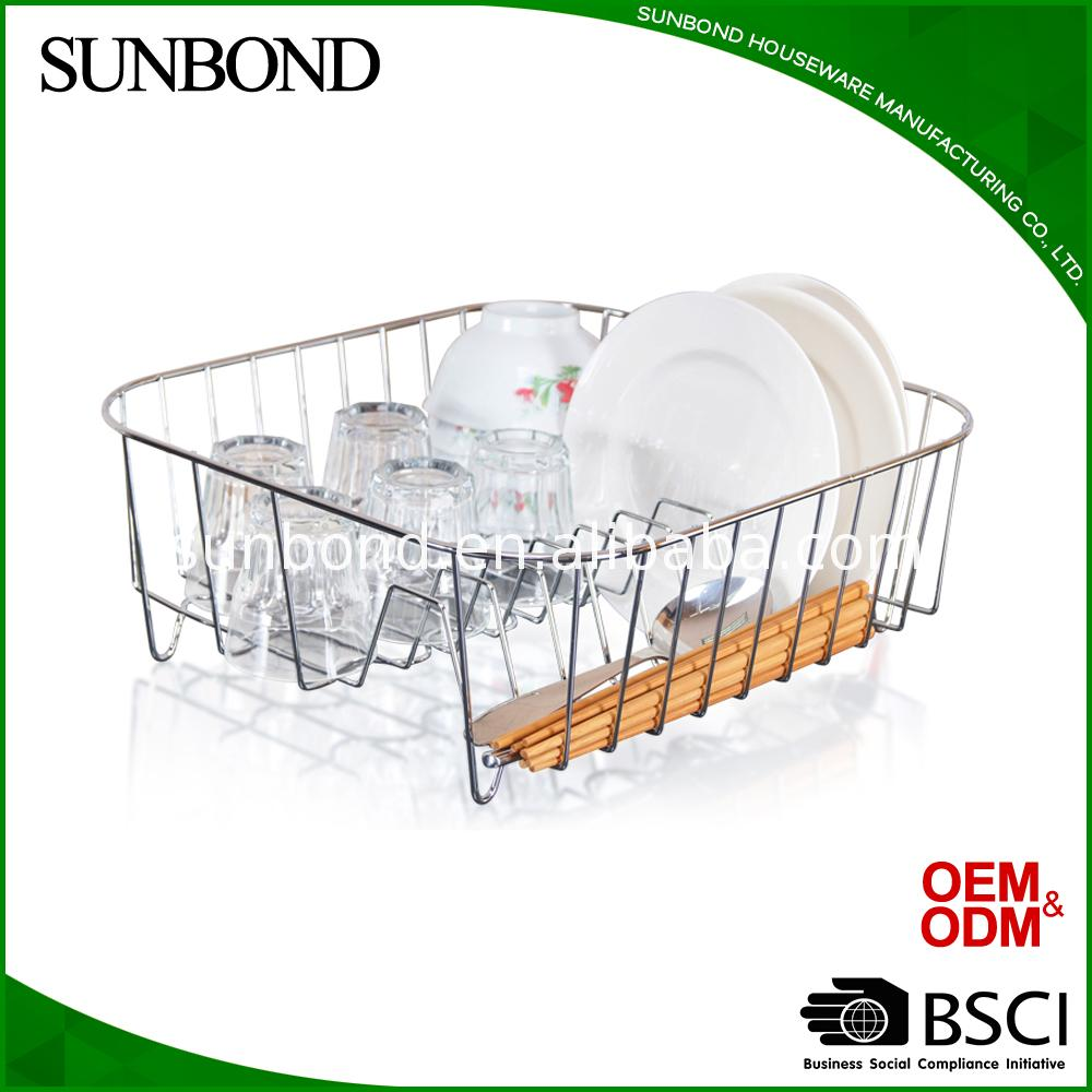 household dish rack folding drying kitchen drainer sink stainless steel