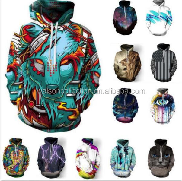 Wlaosn 3D Graphic Print Animal pattern Unisex Hoodie with Pocket Jumper Hooded Sweatshirt pullover top