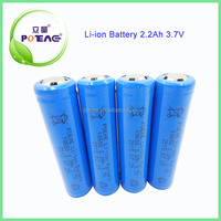 Samsung cell lithium rechargeable li ion battery 18650 3.7v 2200mah