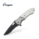 Military Style Pocket Knife Stainless Steel Handle Half Serrated Blade Knife Good for Camping, Outdoor Activities