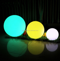 Lighting up RGB floating glowing remote control led waterproof swimming pool light ball