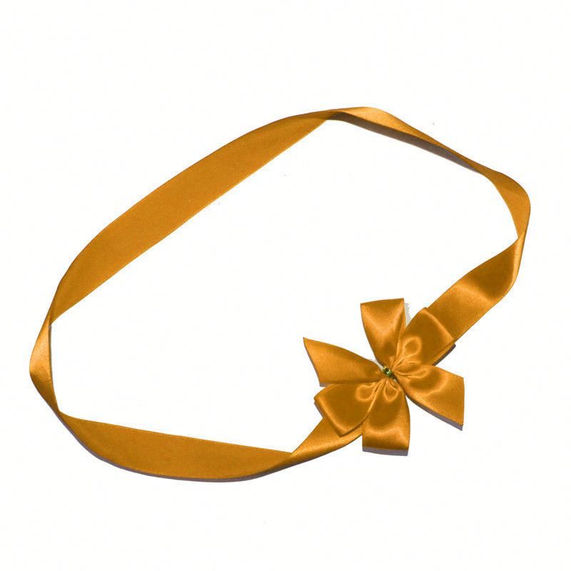premade decoration bow with band