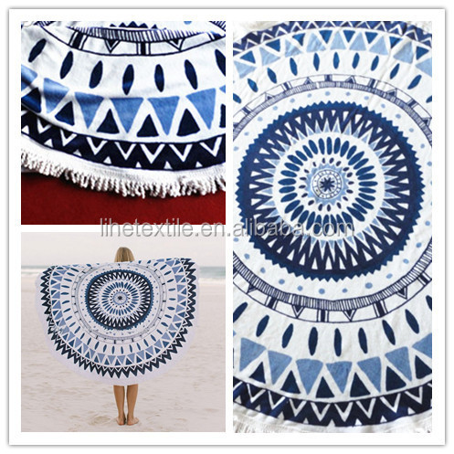 Christmas gift towel custom made beach towels with tassel small quantity wholesale