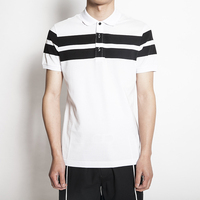 Alibaba China Wholesale Shopping Online Brand Cotton Short Sleeve Stripe Mens Polo t shirt
