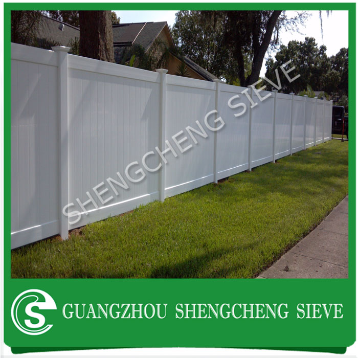 Decorative plastic garden edging PVC pipe fence portable used privacy fence