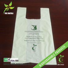 100% biodegradable plastic corn starch shopping bags