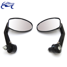 FCBEM051 Universal motorcycle mirror cnc Handle Bar End Mirrors For ZX CBR GSXR RI R6 Cafe Racer Bobber Clubman Chopper