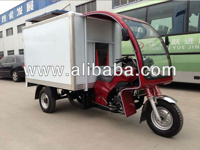 110cc 200cc 250cc motorcycle motor electric three wheel with cabin container cargo tricycle