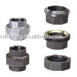 galvanized black male threaded hexagon 330 union malleable cast iron pipe fittings