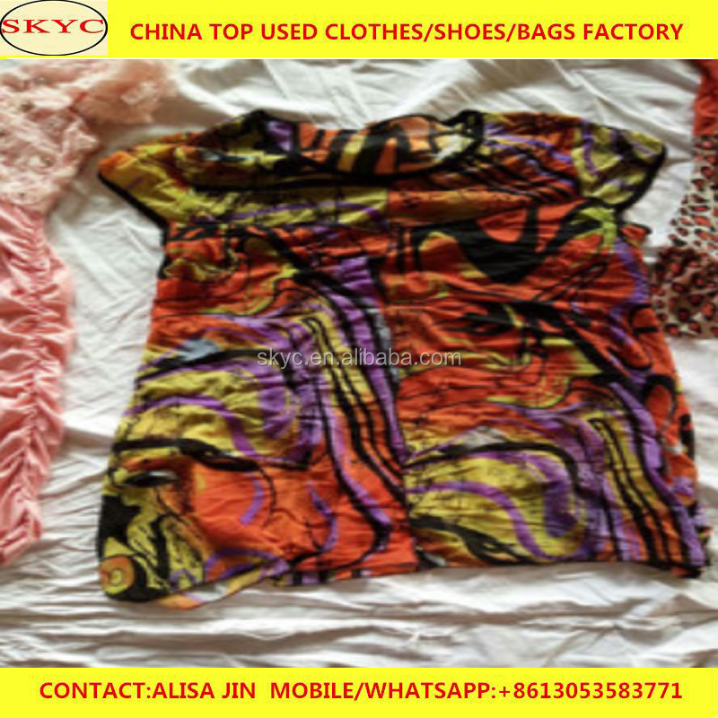 Luanda Angola used clothing buyers wholesale super cream quality sorted second hand clothes in China