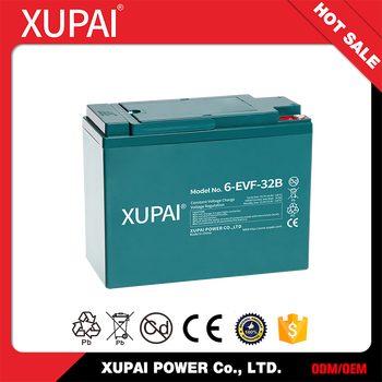 6-EVF-32(B) Rechargeable Lead Acid Battery Electric Car Battery Packs 12V 32ah