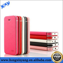 high quality pu leather stick case for iphone 5c
