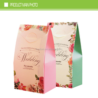 chinese supplier custom printed wedding favor candy box for wholesale