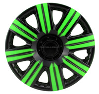 "Car steering Wheel Covers 13""14""15"" PP/ABS Plastic Color Car Wheel Caps Twin Color Car Wheel Hub Caps 445"