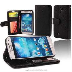 Hot selling Lichee Pattern PU Leather Cell Phone Holster Cover Case For Samsung i9500