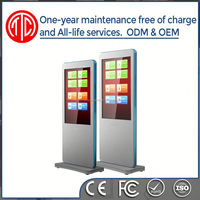 Smart vertical HD TFT vertical lcd color printer kiosk/high resolution printer/ floor standing printer