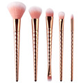 High Quality Synthetic Makeup Brushes Rose Gold Diamond Long Handle rose flower makeup brushes