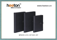 office supply PU cover business notebook with button