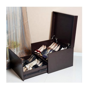 MDF MFC Particle board Giant wooden NBA stars or womens high heel shoes cabinet nike shoe box from China maker