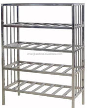 304Grade commercial stainless steel four layers kitchen adjustable plate shelf storage rack