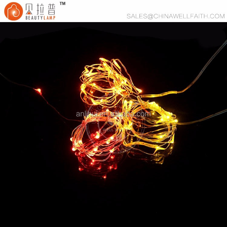 Button Battery Operated LED Fairy String Lights with 20 Micro Warm White LEDs