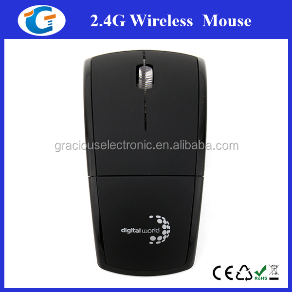 Arc Folded Shape Laptop 2.4Ghz RoHS Wireless Mouse