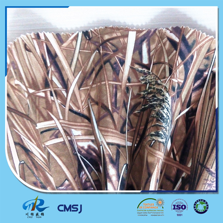 Water resistance and peached poly cotton twill rice camouflage fabrics