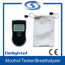 Digital Breath Alcohol Tester detector breathalyzer AT818 with 4 mouthpiece