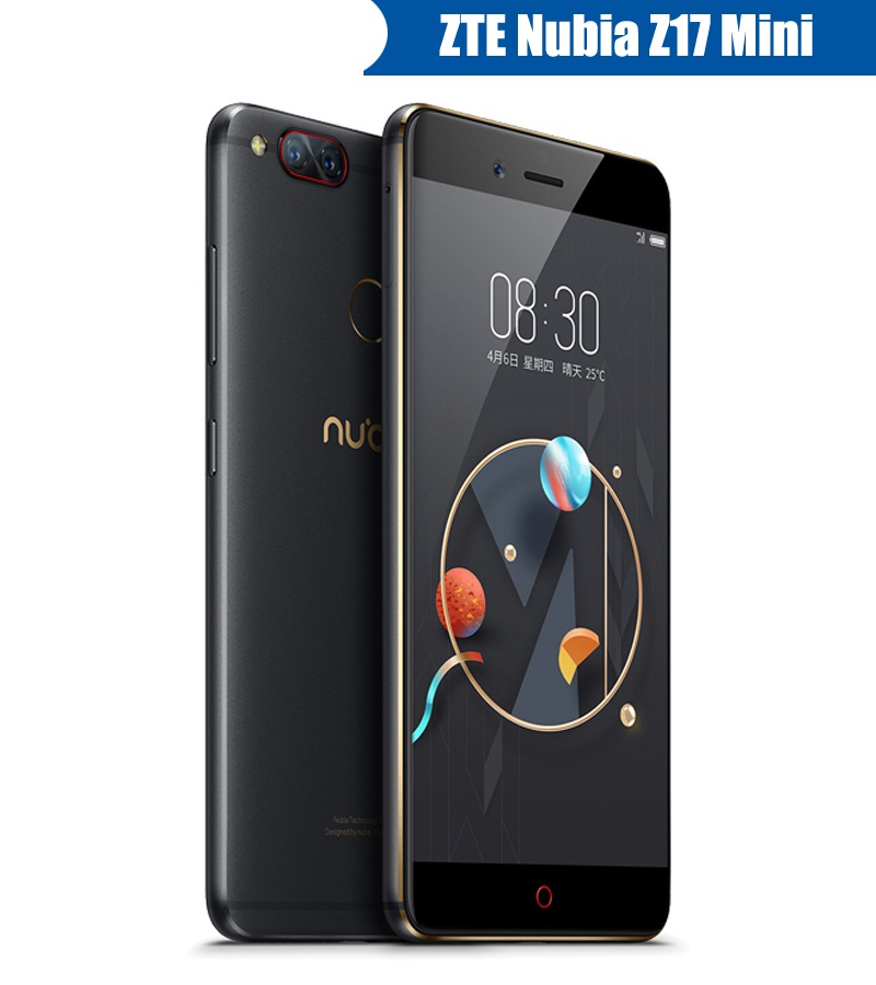 Original ZTE Nubia Z17 Mini 4G Mobile Phone 6G Ram 64G Rom 5.2 inch 1920 x 1080P Front 16.0MP Dual Rear 13.0MP Fingerprint ID