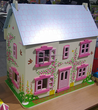 HET SELLING 2-storey wooden doll house with furnitures toy