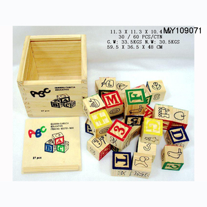 27pcs wooden letter ABC Blocks with box