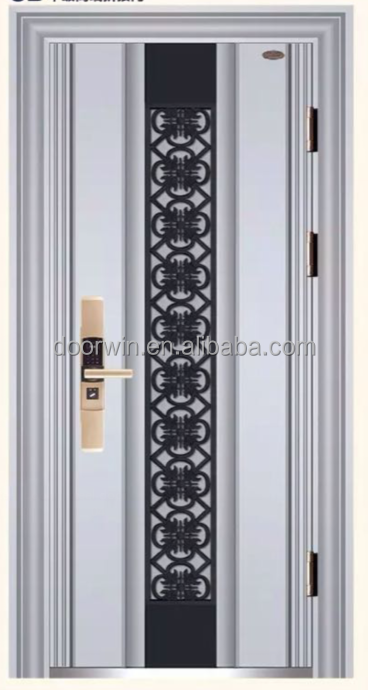 China made high quality steel security door with low for Security doors prices
