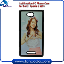 sublimation phone case for sony S39H Xperia C PC Case
