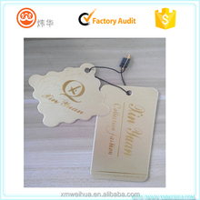 hot sell high quality custom kraft paper hang tags for garment