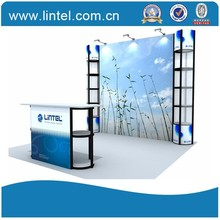 Lintel Display 10*10ft standard exhibition booth ,modular exhibition booth ,spray booth