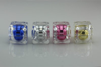 Luxury square shape acrylic nail polish remover cream jars/containers