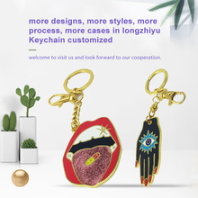 Longzhiyu 12years Manufacturer Personalized custom fashionable lipstick holder key chain