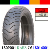 Solid rubber motorcycle tire 110/90-13 made in China