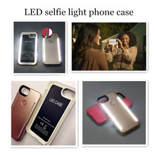 The Third Generation LED Selfie Light Phone Case For mobile phone 6 6s 7 Plus Self Light Luminous Flash Back Cover Cases