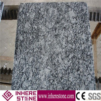 Polished natural stone slab white water wave white granite