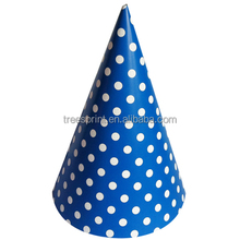 Wholesale polka dot shape birthday paper party hat in birthday decoration