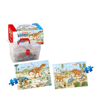 2-In-1 Dinosaur Puzzle 3D Toy Paper Jigsaw Puzzle For Kids Play Toy