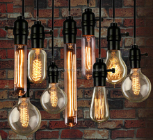 Vintage American country style Industrial clear Glass cover pendant hanging light Chandelier Lamp Edison E27 bulb A19