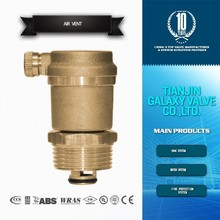Threaded auto brass air vent valve