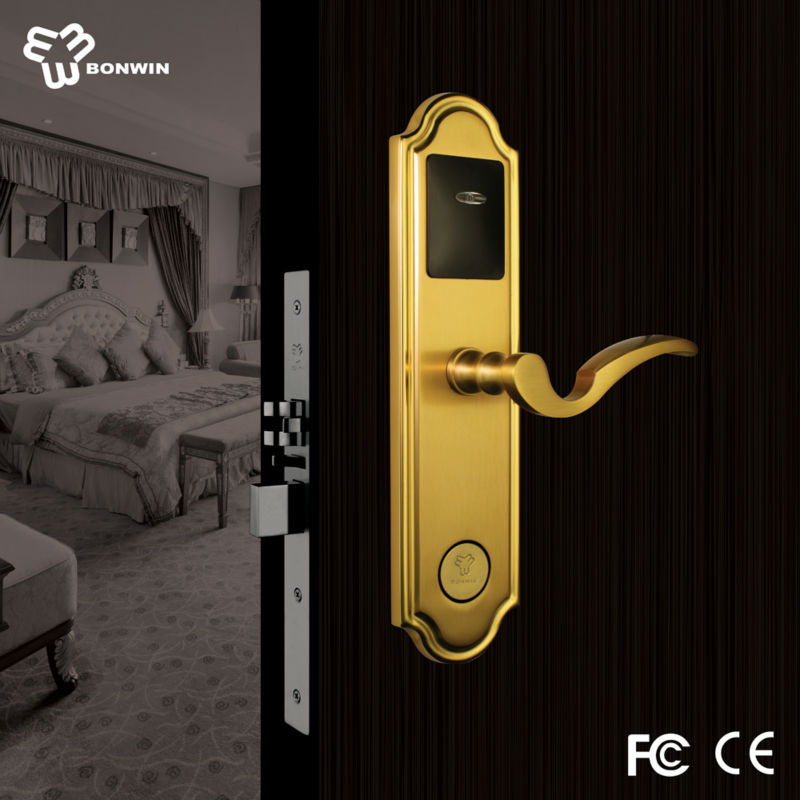 Changzhou european mode software type hotel door handle lock