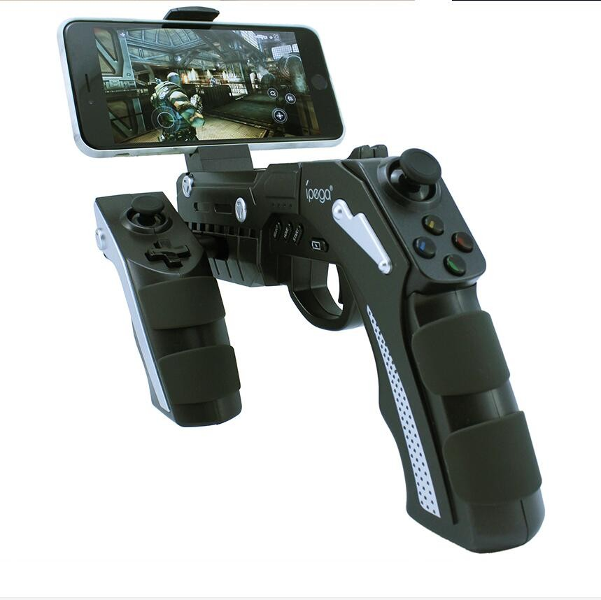 Bluetooth Instant Game Shooting Gun Vibration Gaming Controller Gamepad Joypad for Android Smartphone