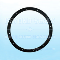 NBR FKM SILICONE EPDM DN250 DN300 round flat Rubber pipe Flange Gasket